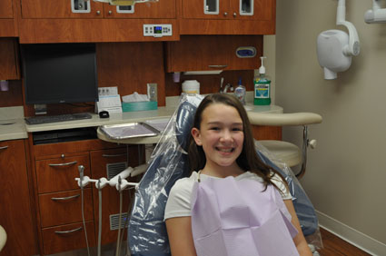 Girl in Dentist Chair